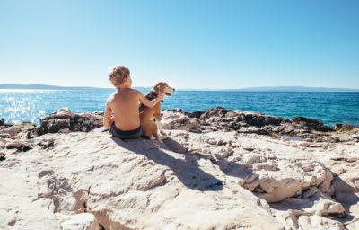 cani in spiaggia ai Lidi Estensi
